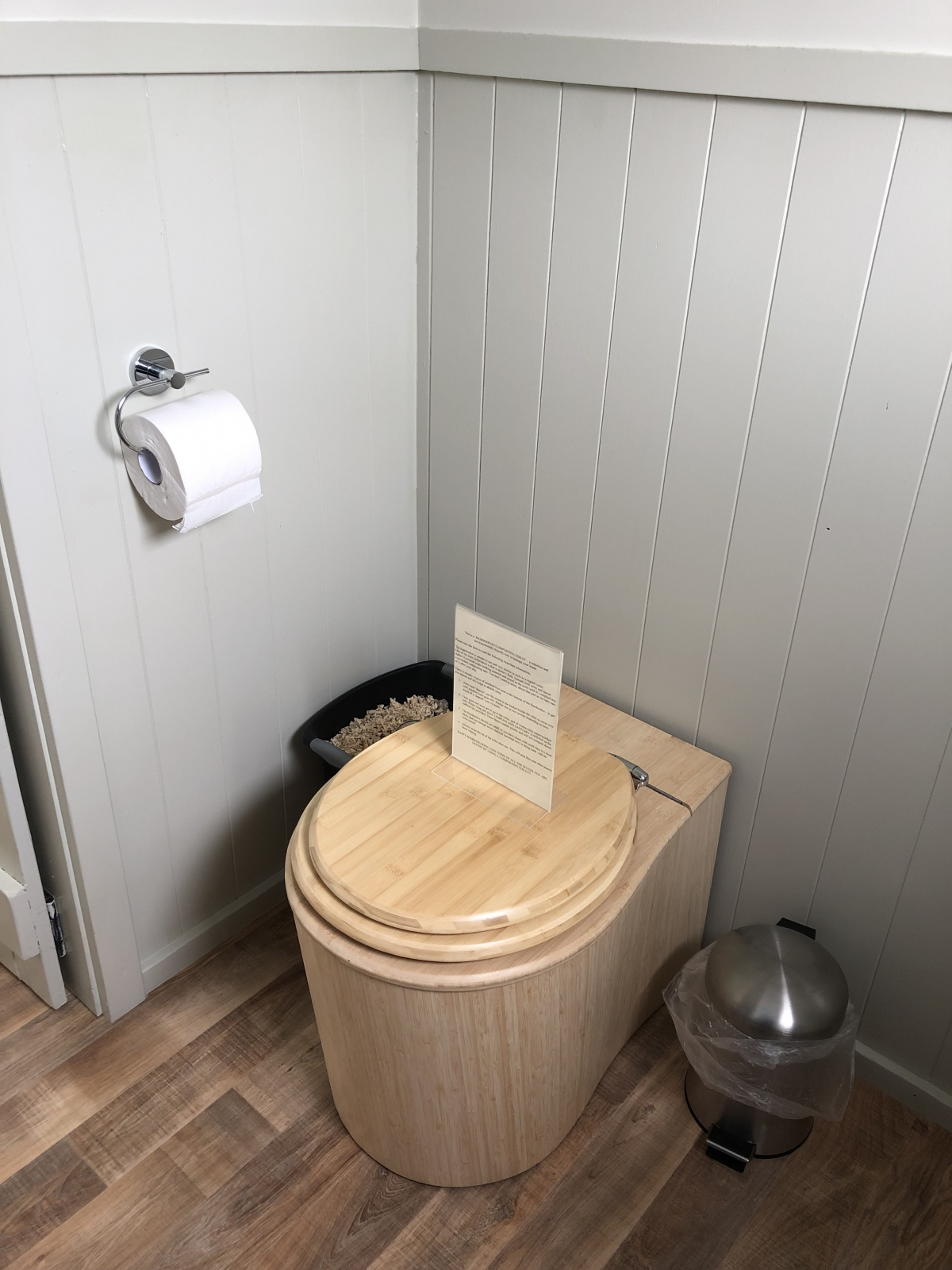Photo of property: Bambooloo composting toilet in the ensuite bathroom