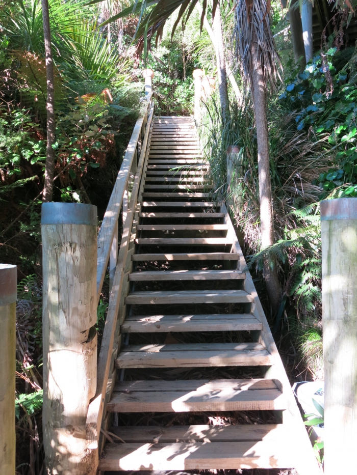 Photo of property: The flight of stairs up form the wharf is not suitable for frail or disabled people.